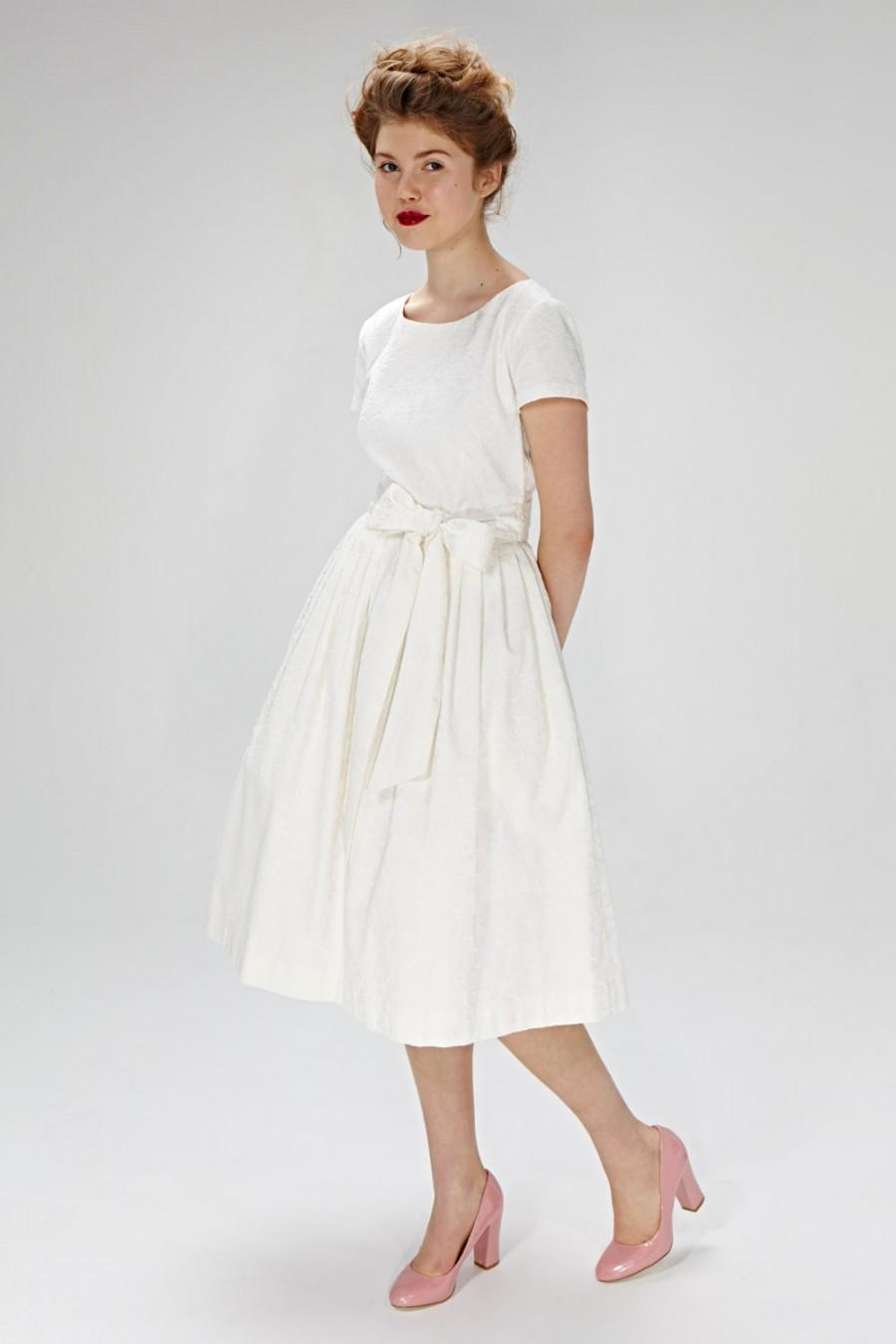 1950s Wedding Dress 50s Wedding Dress Wedding Dress Plus Simple