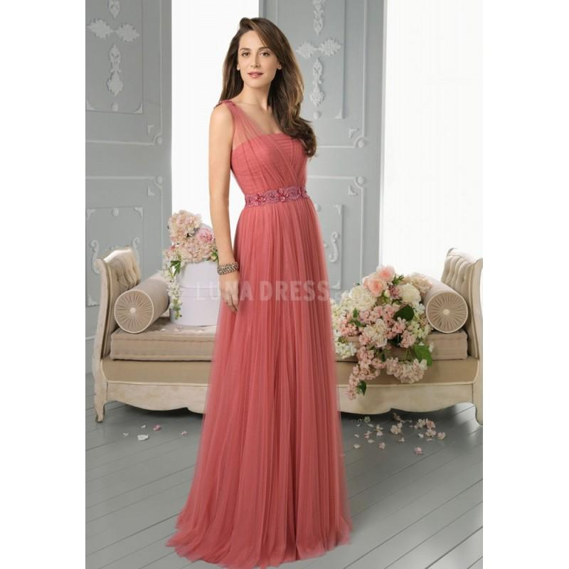 Mariage - Stunning A line Floor Length Straps Natural Waist Sleeveless Tulle Evening Dress - Compelling Wedding Dresses