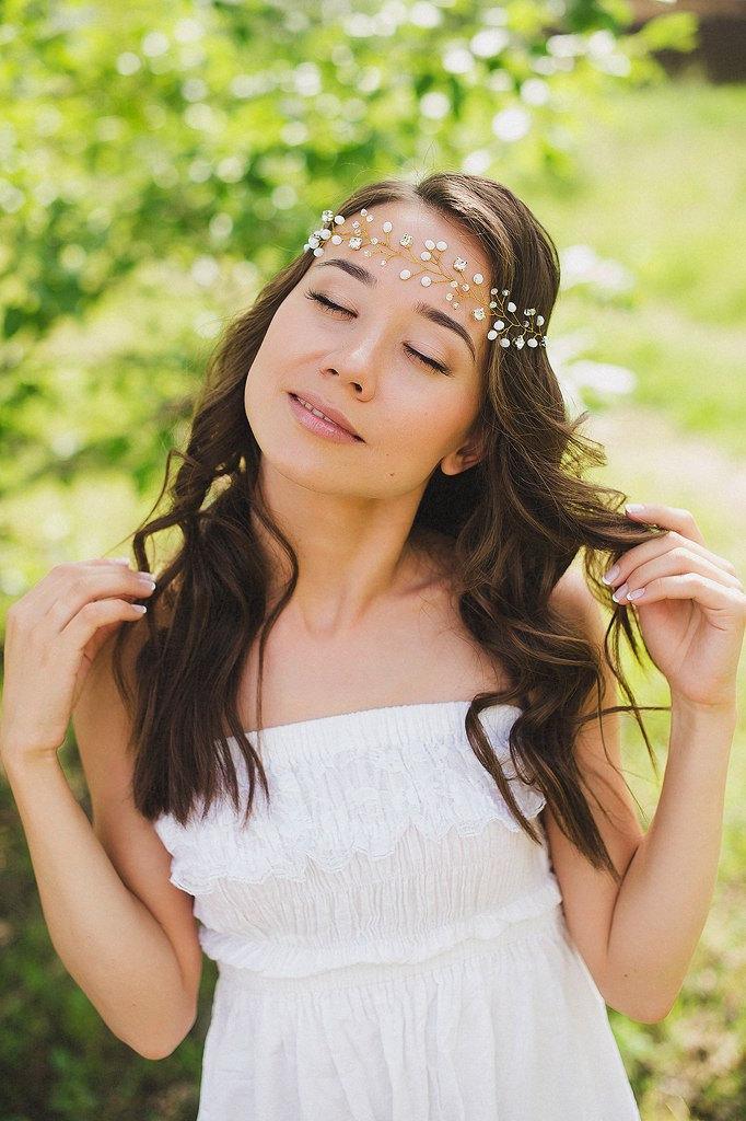 Mariage - Bridal Hair Vine. Bridal Wreath. Bridal Headpiece Wedding Hair Accessories. Hair Wreath. Boho accessories. Bridal Crown. Tiara Headband.Halo