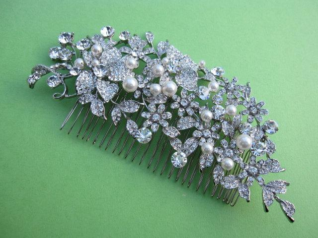 Mariage - Wedding hair accessories hair comb pearl Bridal hair comb Wedding hair jewellery Bridal comb Wedding hair piece Bridal hair accessories COMB