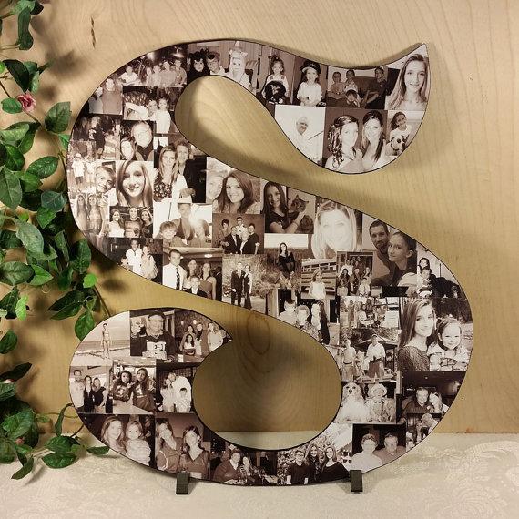 Wedding - Photo Collage, Photo Letters, Custom Photo Collage, Letter Photo Collage, Personal Collage, Personal Photos, Customized Photo Letters, Art