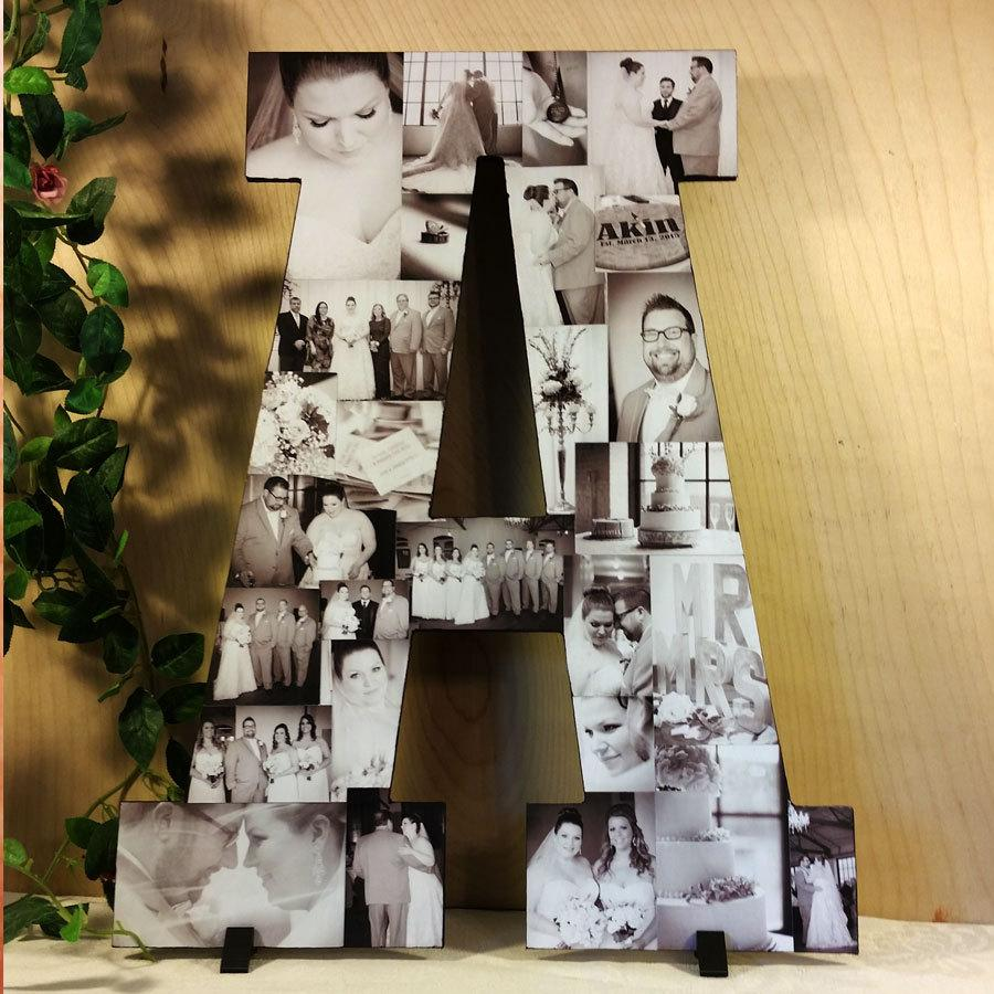 Wedding - Custom Photo Collage, Letter Photo Collage, Wood Letters, Personal Collage, Photo Collage, Personal Photo Collage, Customized Photo Letters