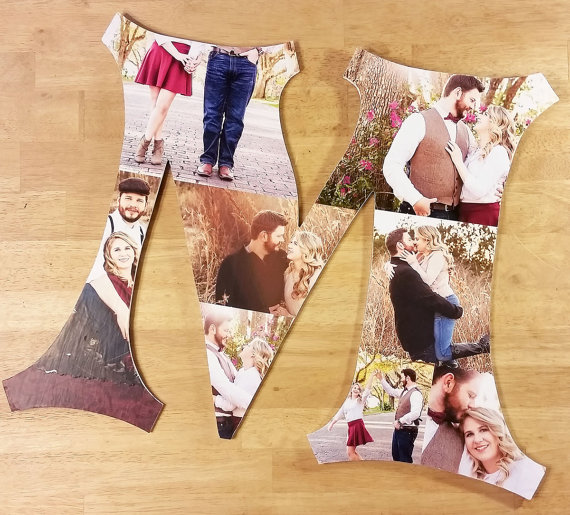Wedding - Custom Photo Collage, Photo Collage Letters, Custom Photo Letter, Personal Collage, Photo Collage, Personal Photos, Customized Photo Letters