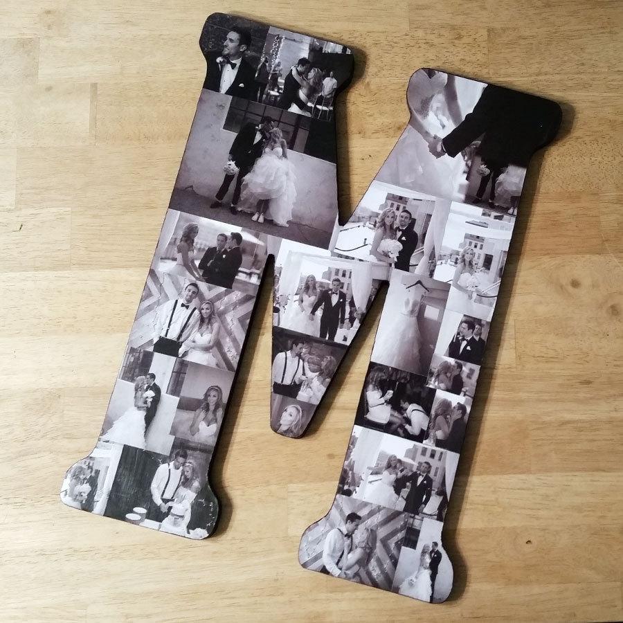 Wedding - Custom Photo Letter, Custom Photo Collage, Letter Photo Collage, Personal Collage, Photo Collage, Personal Photos, Customized Photo Letters