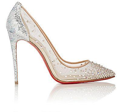 ff386ae6a473 Christian Louboutin Crystal-Embellished Follies Strass Pumps ...