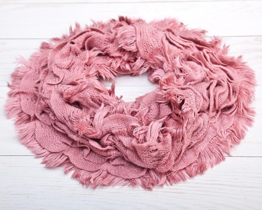 Wedding - Beautiful Infinity Scarf, Pink Lace Scarf, Summer Scarf, Fashion Accessories, Gift Ideas For Her (007)