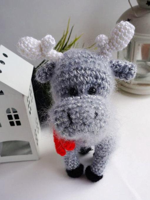 Свадьба - Plush deer stuffed toy deer plush deer grey stuffed deer woodland animal large deer crochet animal softie deer doll cute deer Halloween toy