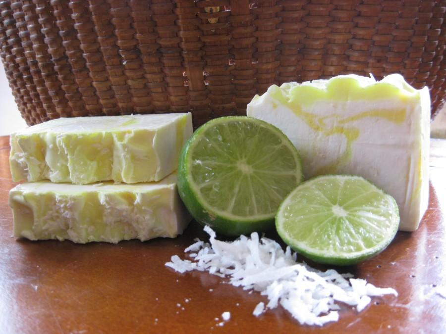 Coconut Lime Verbena Soap, Natural Soap