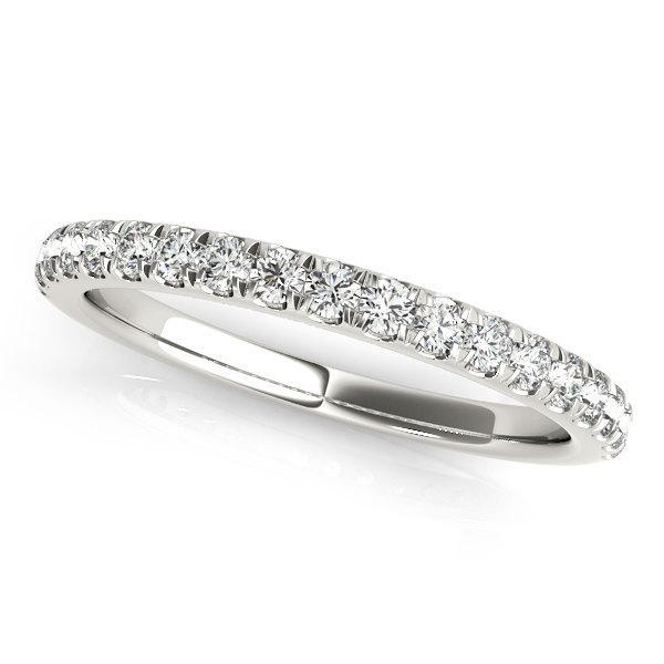 Wedding - Wedding Band, Diamond Wedding Ring, Wedding Band, Wedding Ring. Diamond Stacking Ring in 14k White gold.