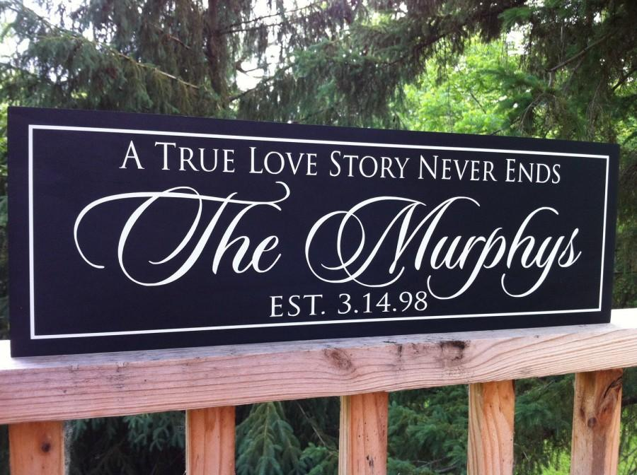 a true love story never ends wooden signs 50th anniversary gift family established sign wedding gift wedding signs bridal shower gift