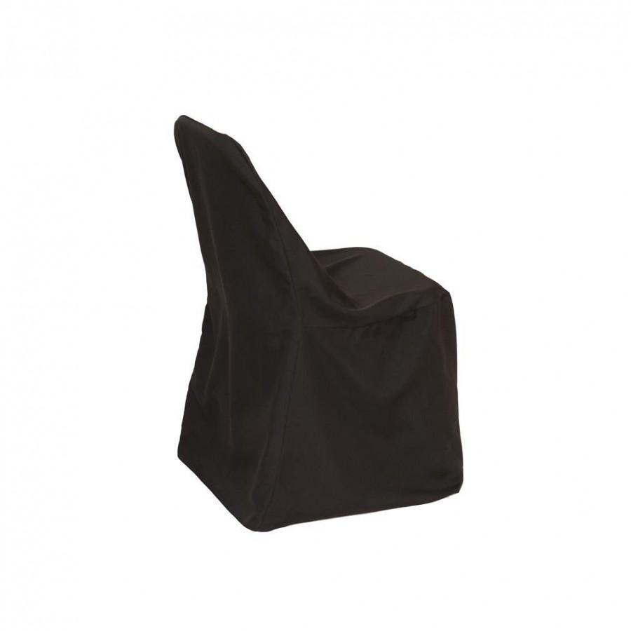 Свадьба - Polyester Folding Chair Cover Black