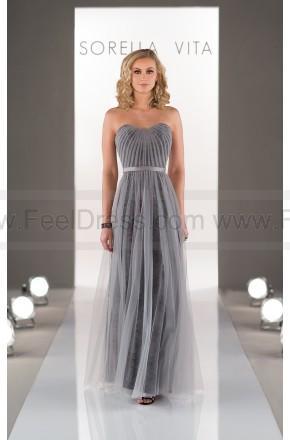 Wedding - Sorella Vita Sheath Bridesmaid Dress In Tulle Style 8501