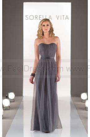 Wedding - Sorella Vita Strapless Floor Length Gown Style 8468