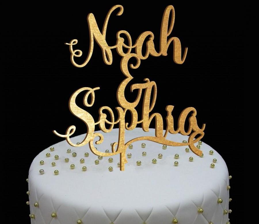 Свадьба - Personalized  Wedding Cake Topper, Wedding Cake Decor, Anniversary - Bridal Shower - Wedding Gift, Valentine Day Cake Topper