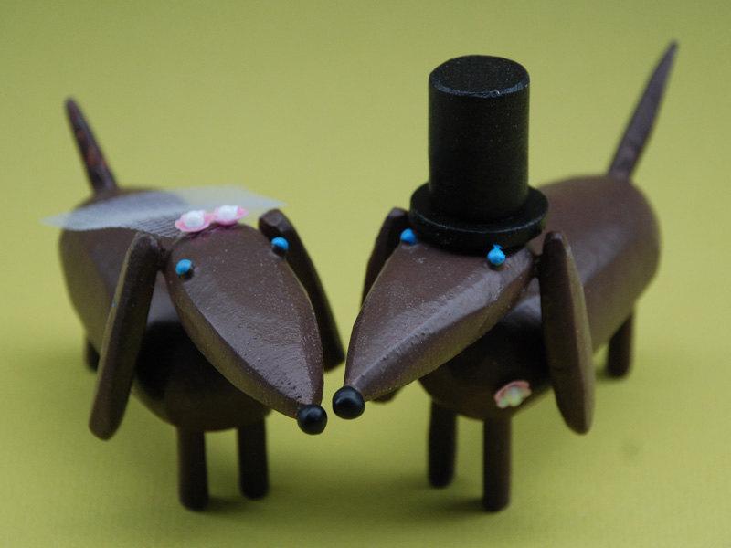 Свадьба - Bride and Groom Dachshunds