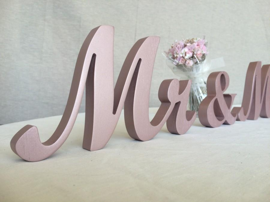 Mr And Mrs Sign Set Wedding Signs For Top Table Le Standing