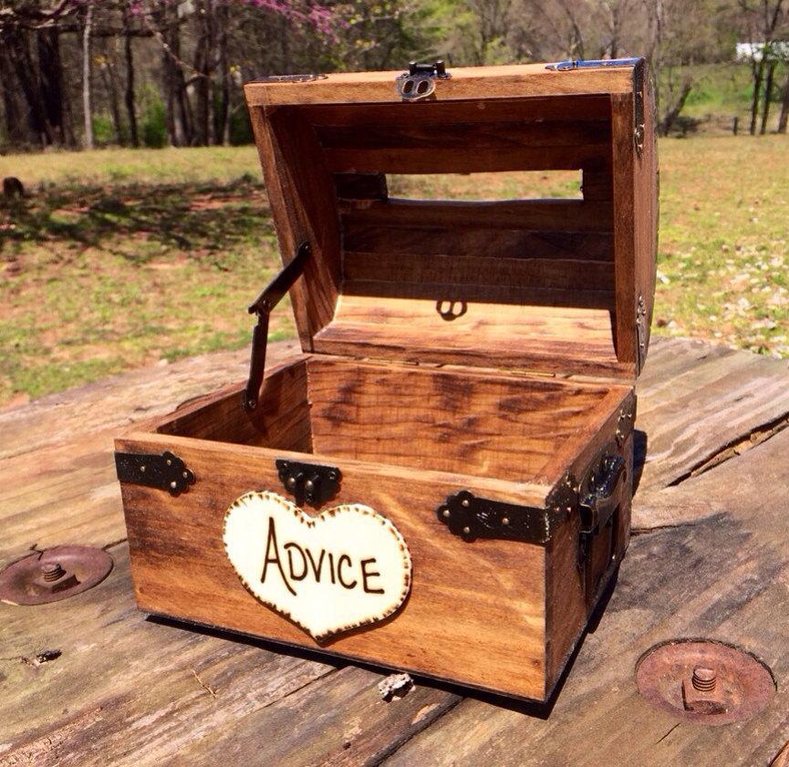 Mariage - Wedding Advice Box - Wedding Chest - Wishing Well - Wedding Guest Notes - Rustic Wedding - Shabby Chic Wedding