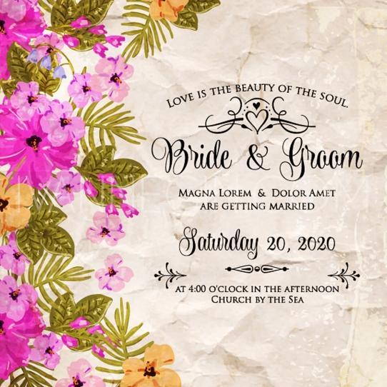 Wedding - Wedding invitation - Unique vector illustrations, christmas cards, wedding invitations and images designed by Ivan Negin