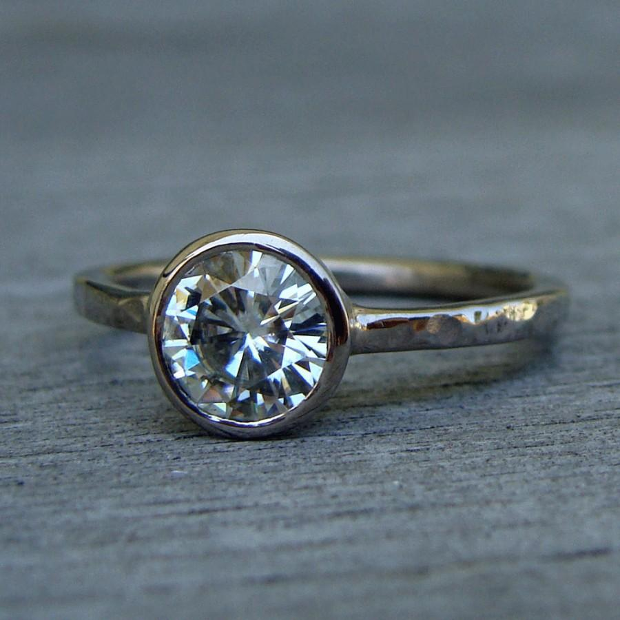diamond pin ring and via alternative friendly moissanite gold engagement rose etsy rings eco size recycled