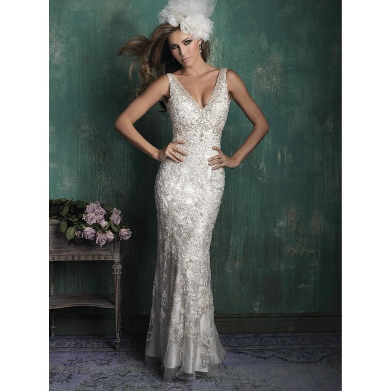 Wedding - Allure Couture C352 Beaded Lace Slip Wedding Dress - Crazy Sale Bridal Dresses