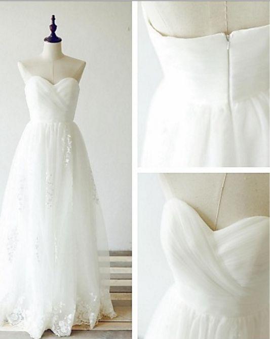 Mariage - Sweetheart A-Line Beach Wedding Dress Bohemian Wedding Dress