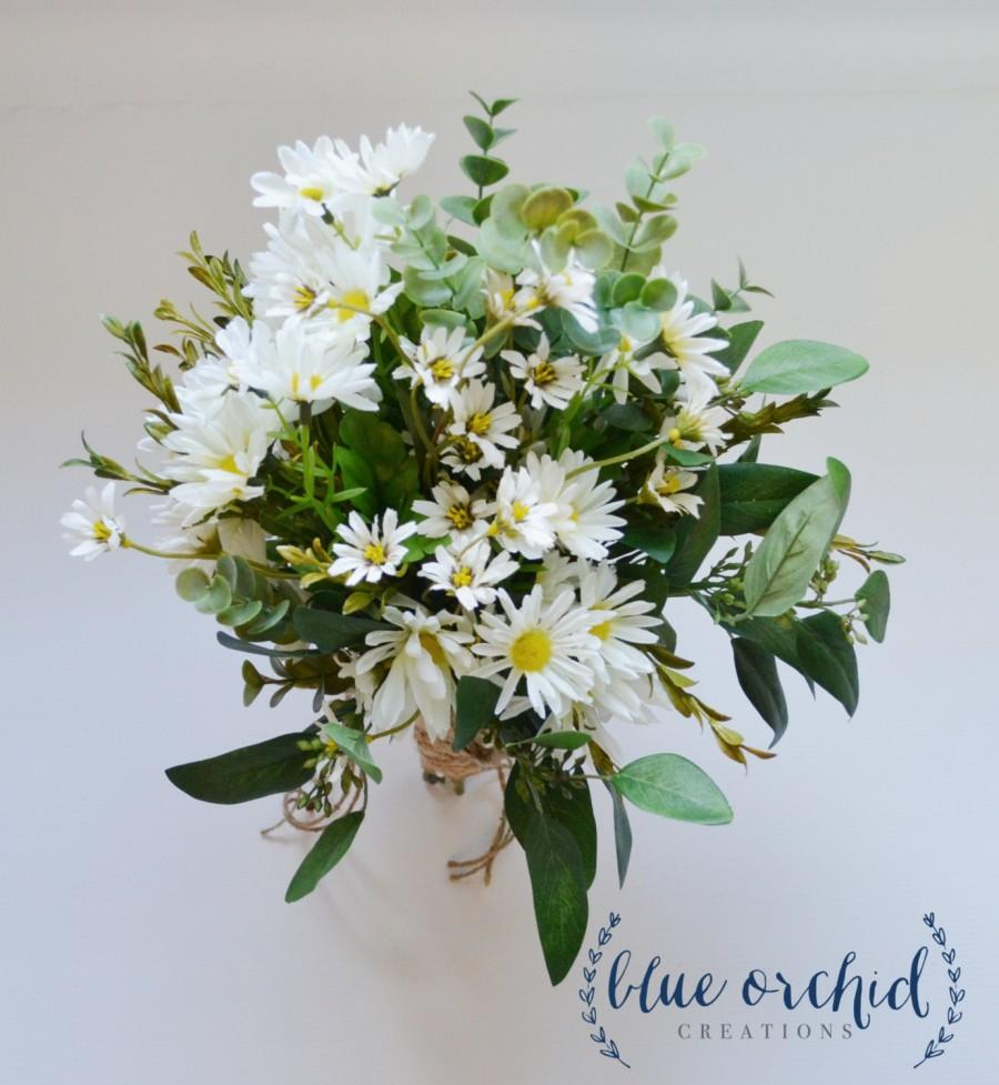 Wild Daisy Bouquet With White Wildflowers And Small White Daisies