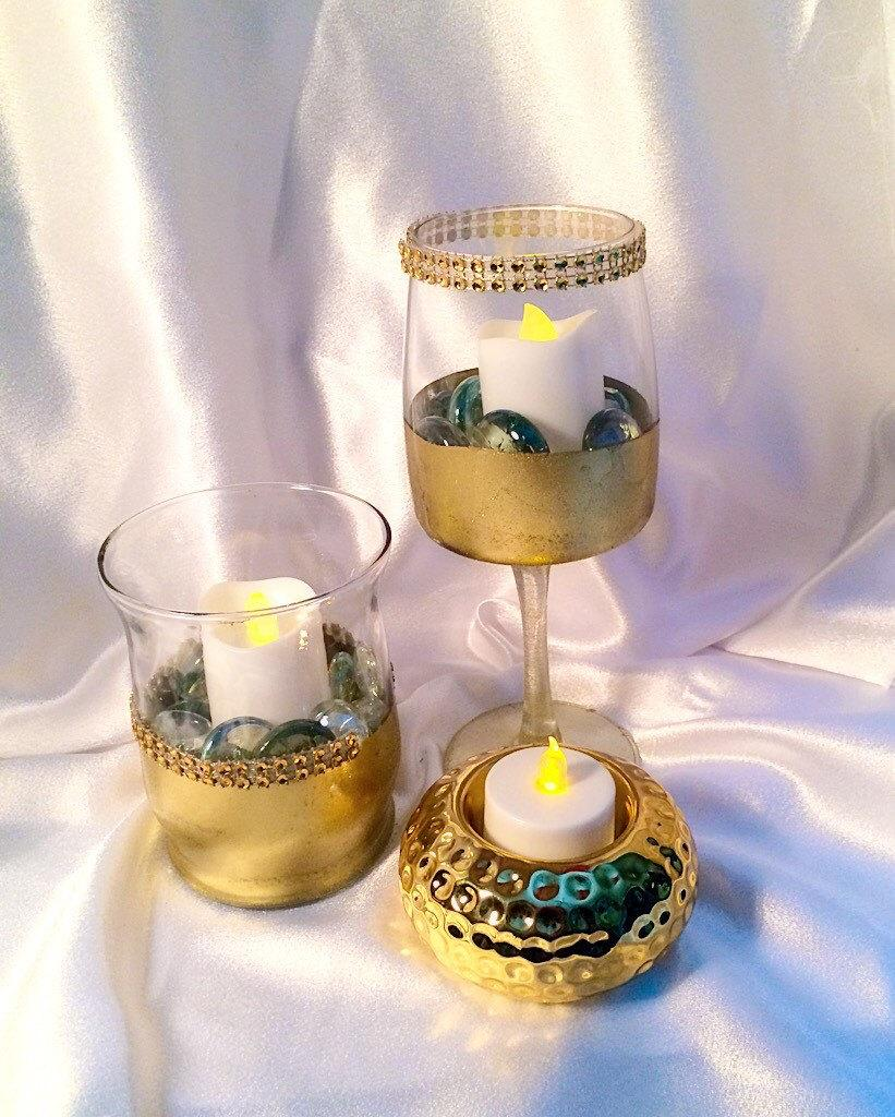 Wedding, Table Décor, Candle, SET Of Two, Candleholder, Decorations ...