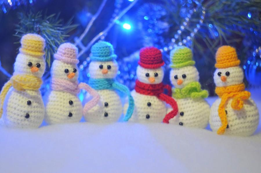 Amigurumi Snowman : Crochet snowman christmas snowman amigurumi snowman colored