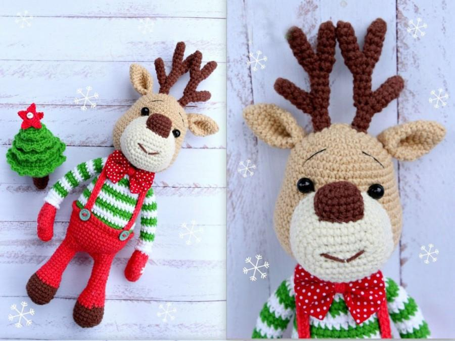 Amigurumi Christmas : Amigurumi rudolf christmas deer deer plush deer stuffed animal