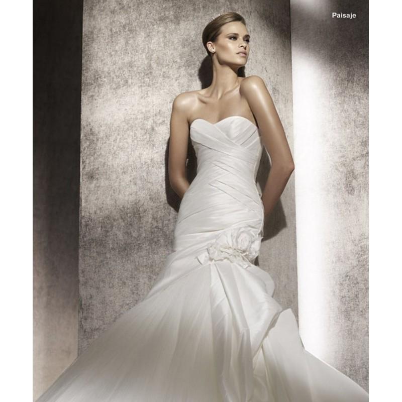 Wedding - Pronovias Paisaje Bridal Gown (2012) (PR10_PaisajeBG) - Crazy Sale Formal Dresses