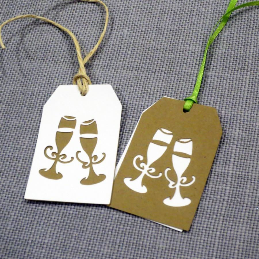 champagne flute favor tags cheers wedding favor tags gift tags