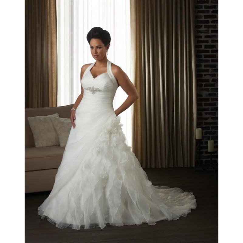 Bonny Unforgettable 1304 Plus Size Wedding Dress Crazy Sale Bridal