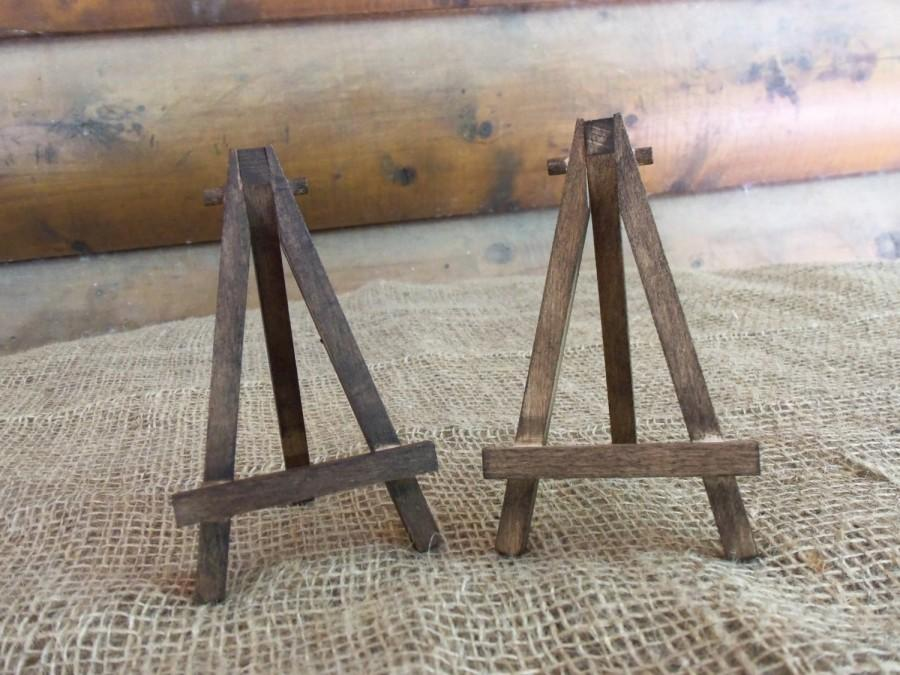 Wedding - Rustic Chic EASEL SET of 2 - Natural or Rustic Stain