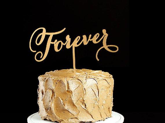Свадьба - Forever Wedding Cake Topper