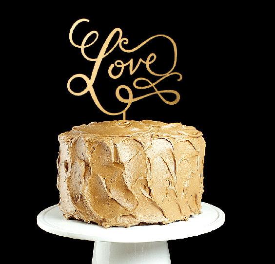 "Свадьба - The ""Love"" wedding cake topper"