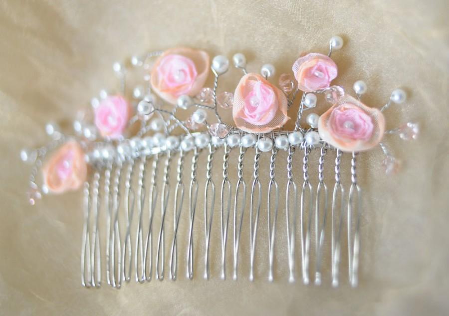 Wedding - bridal hair comb wedding hair comb wedding comb crystal hair comb rhinestone hair comb flower hair comb decorative comb bridal hair combs