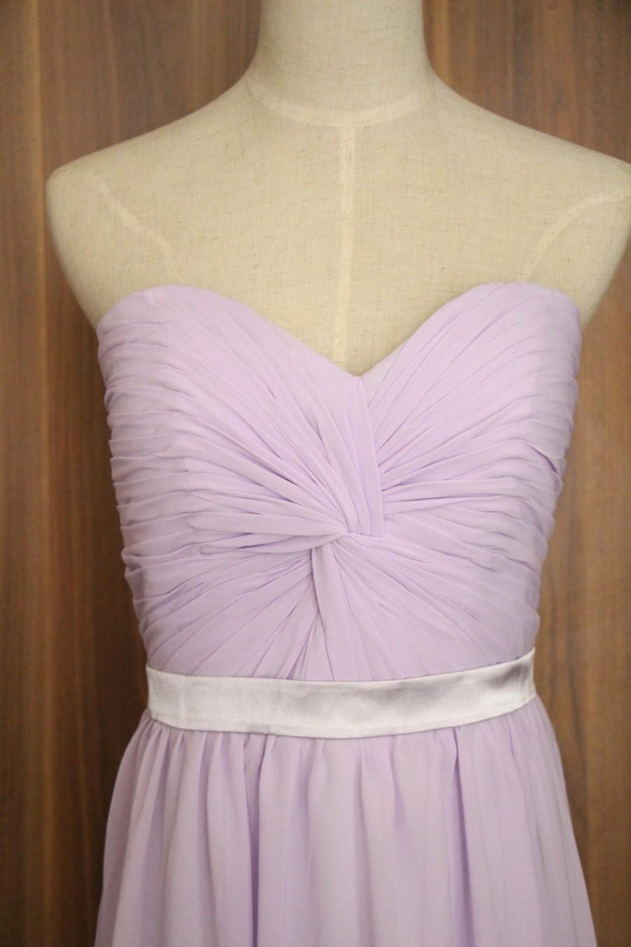 Mariage - Lavender Sweetheart Bridesmaid Long Dress Prom Dress-Lavender Sweetheart Bridesmaid Dress