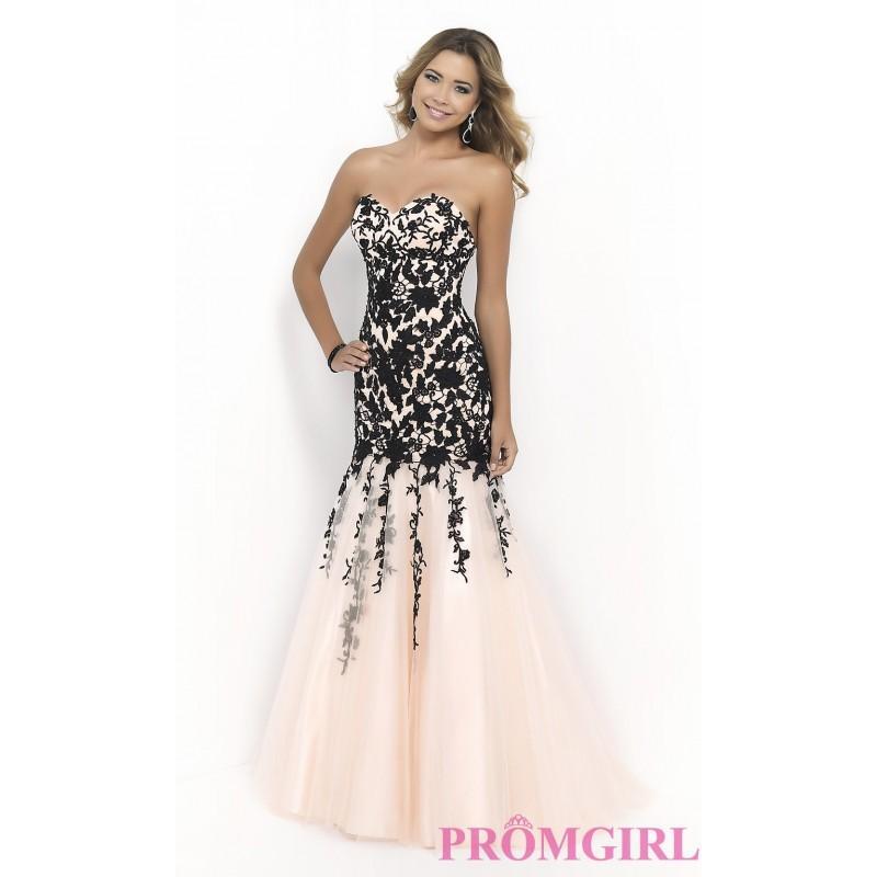 Свадьба - Strapless Blush Embroidered Dress - Brand Prom Dresses