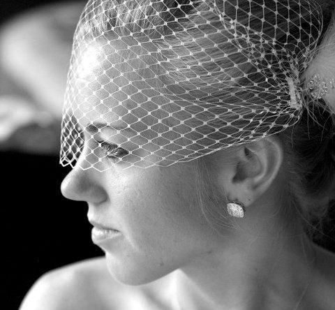Wedding - Birdcage Veil in Ivory, White or Black Russian/French Netting Bandeau Style