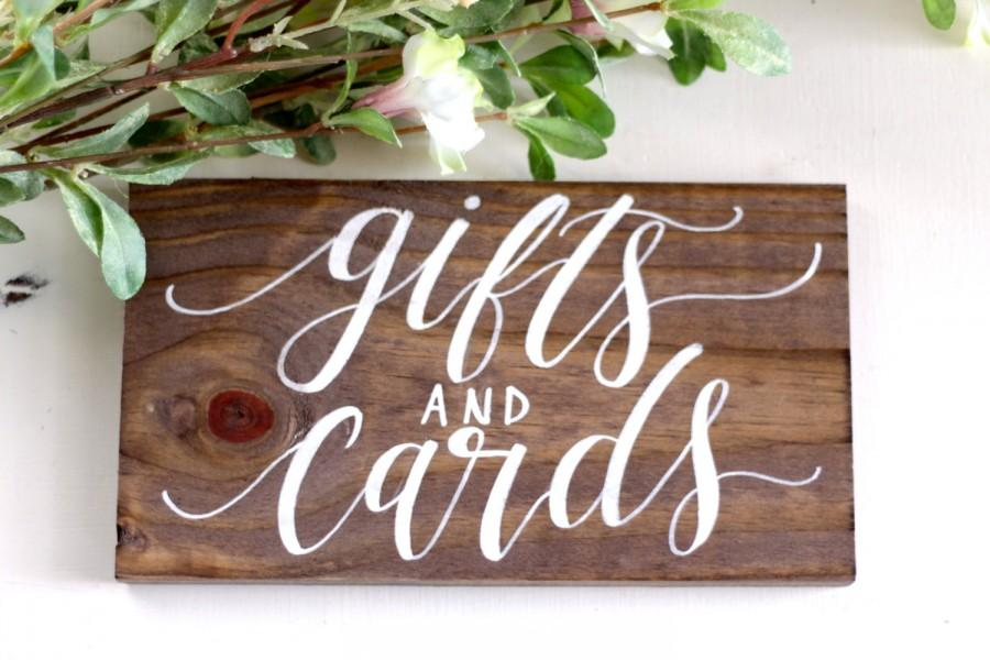 Rustic Wedding Sign Gifts And Cards Sign Rustic Wedding Decor
