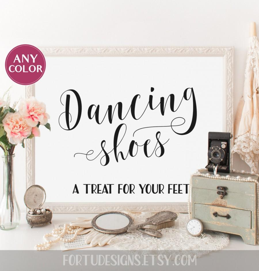Wedding Dancing Shoes Sign Dancing Shoes Wedding Signs Basket ...