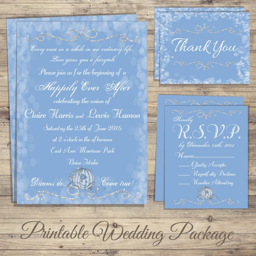 Cinderella Wedding Invitation Kit Cinderella Wedding Invitations – Cinderella Wedding Invitation