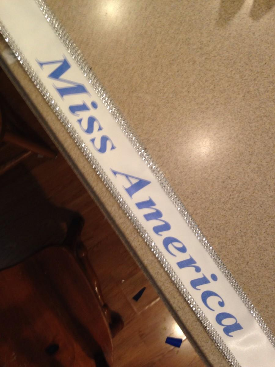 Mariage - Halloween Miss America sash, custom Sash,Wedding Sash Prom King, Prom Queen, Miss America, Beauty Queen,Miss USA Any Color any wording