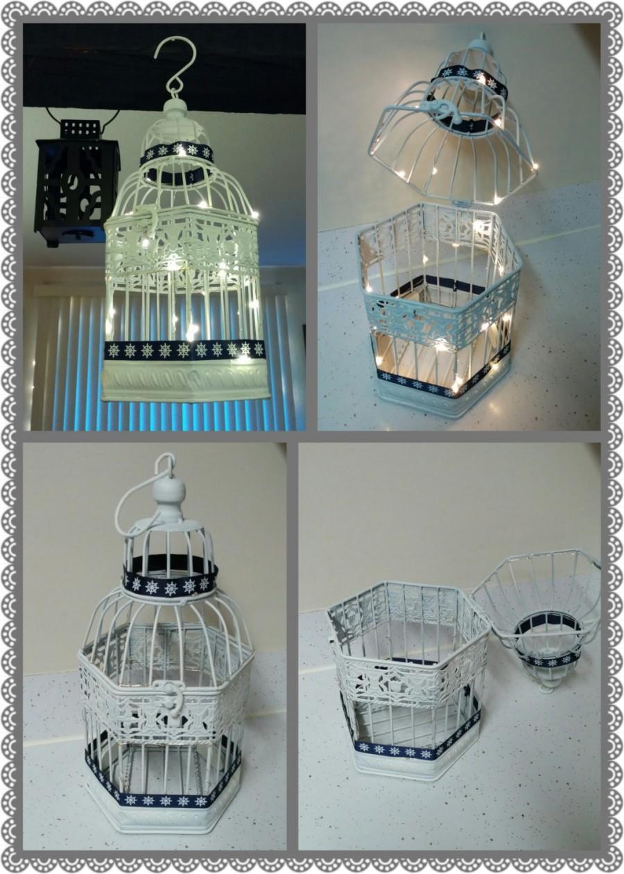 Mariage - Nautical Themed Wedding Birdcage, Card Box, Decoration, Wishes Holder, Decorative Birdcage, Envelope Cage