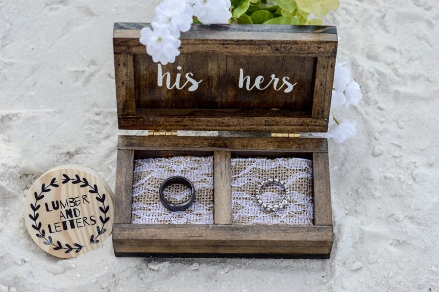 Wedding Ring Box Wedding Ring Box Rustic Ring Bearer Box