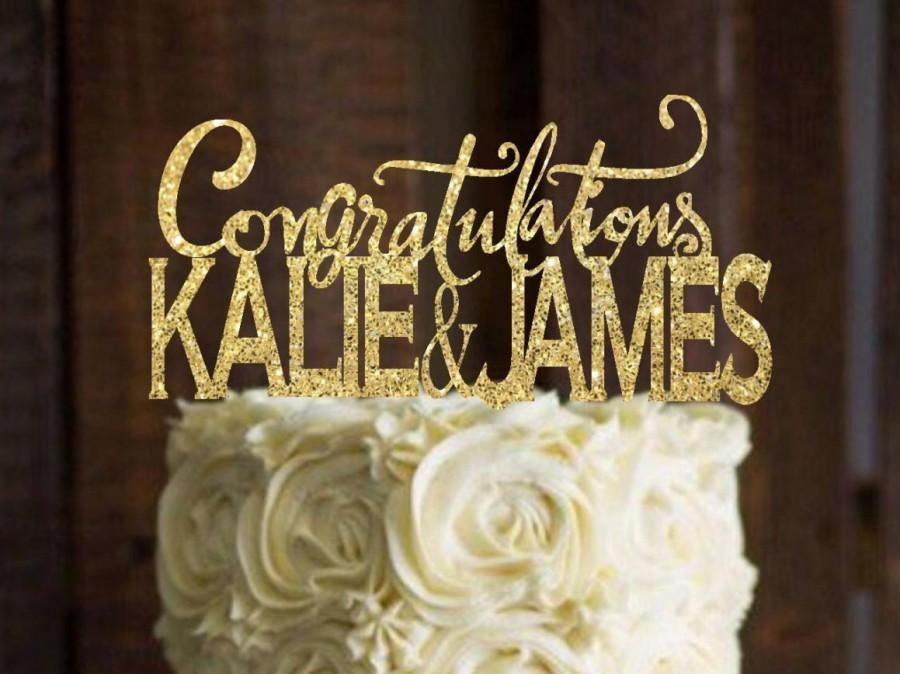Mariage - Cake Topper, Congratulations cake topper, Bridal Shower Cake topper, Engagement Party,Engagement Photo Prop, Cake Decor
