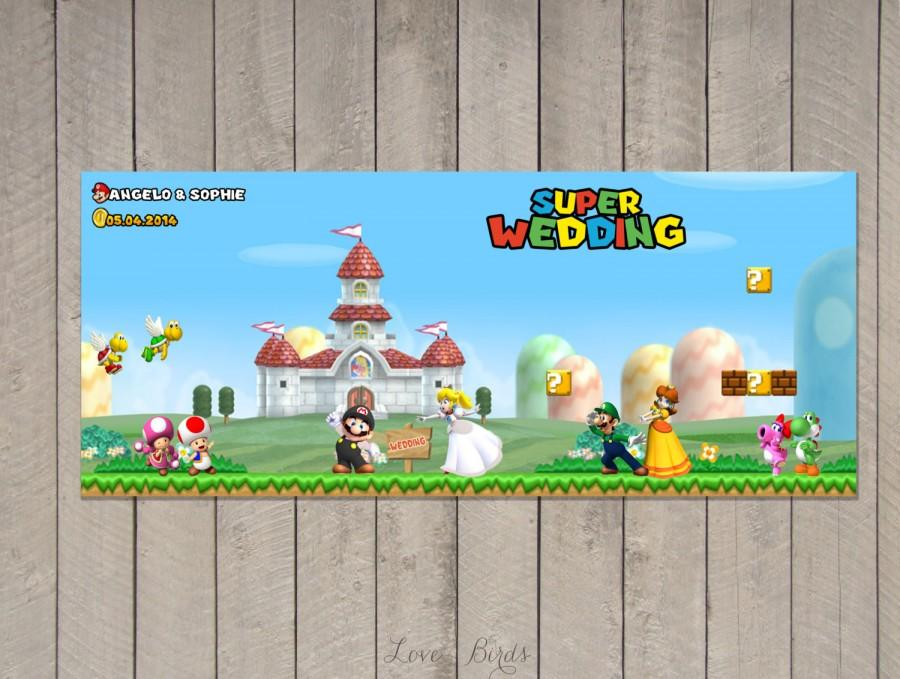 Свадьба - Wedding invitation Super Mario - Mario Peach - Save the Date - Digital file