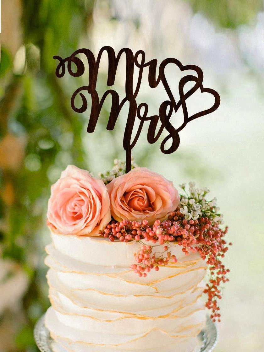 Wedding Cake Topper, Mr U0026 Mrs Cake Topper, Heart Wedding Cake Topper, Gold Wedding  Cake Toppers, Wedding Cake Decorations Silver Cake Topper