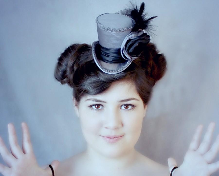 Grey Mini Top Hat  507fe7d0000b