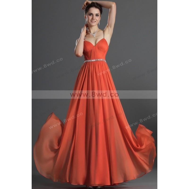 Свадьба - A-line Spaghetti Straps Sleeveless Floor-length Chiffon Best-Selling Evening Dresses  In Canada Evening Dress Prices - dressosity.com